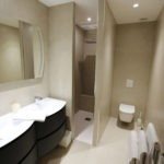 douche italienne de la chambre d'hôtes Villa Miami